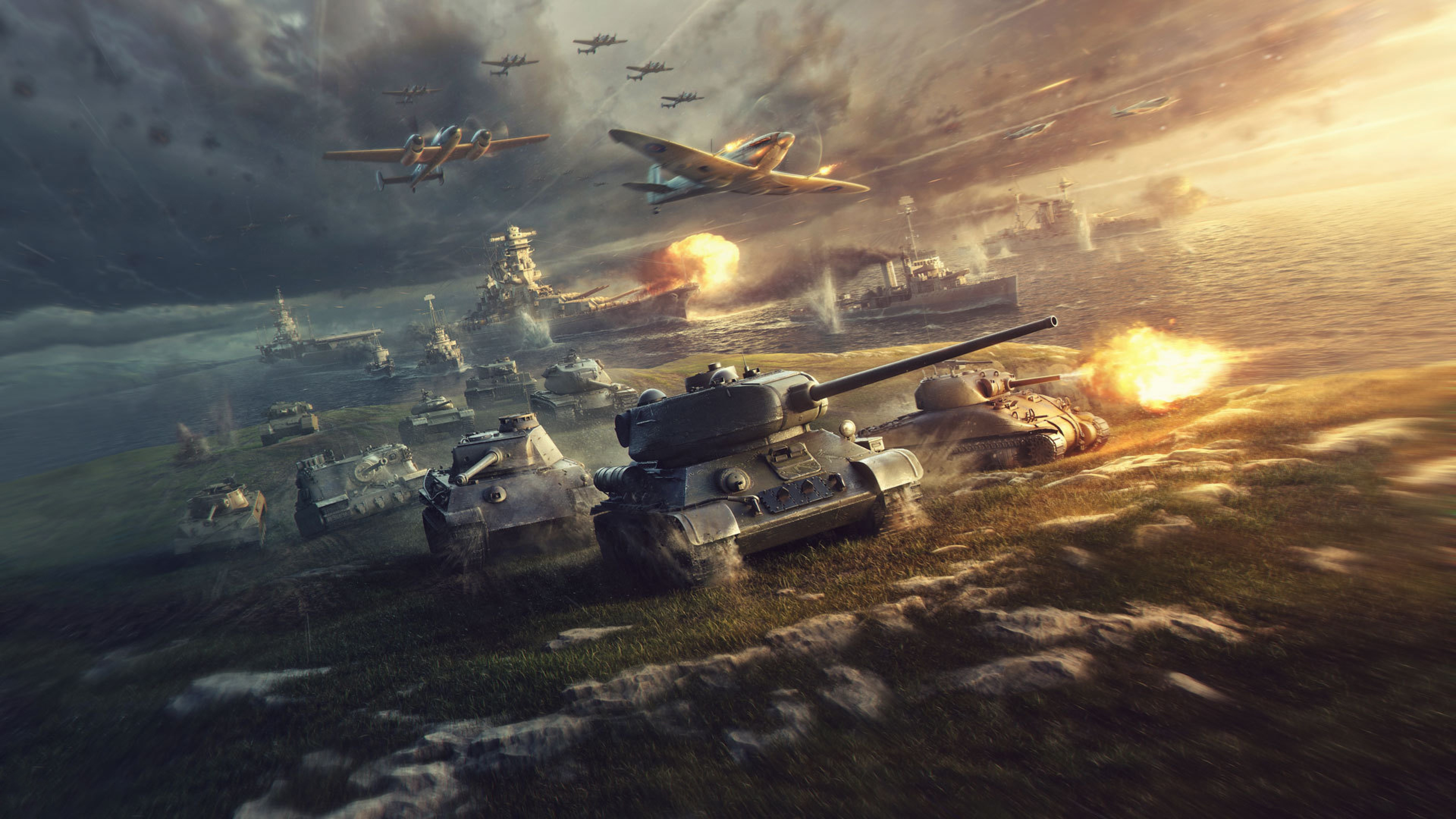 World of Tanks Planes Warships